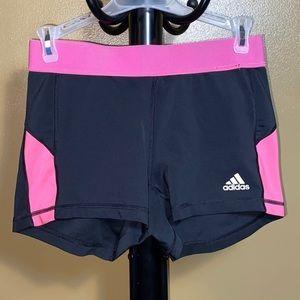 Adidas shorts, black & pink, medium